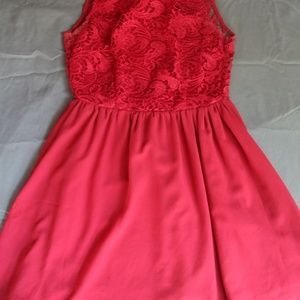 Pink Mustard Seed Lace Boutique Style Dress